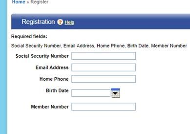 Screenshot image shows Online Banking Enrollment Registration form with required fields to enter information.