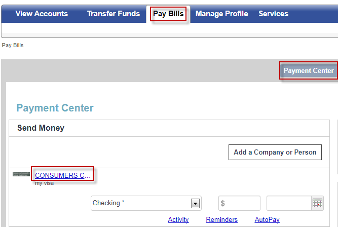 Select the payee you want to edit the account number for.