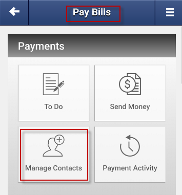 Screen capture showing the manage contact button