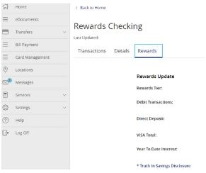 Rewards Checking Tracker