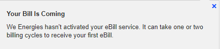 Once submitted, you will receive a message stating your bill is coming.